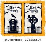 hand drawn textured halloween...   Shutterstock .eps vector #326266607