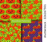 halloween vector seamless... | Shutterstock .eps vector #326267501