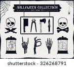 hand drawn textured halloween...