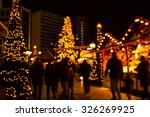 Defocus Christmas Market Of...