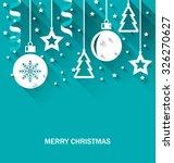 illustration christmas card... | Shutterstock .eps vector #326270627