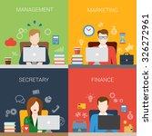 flat style management marketing ... | Shutterstock .eps vector #326272961