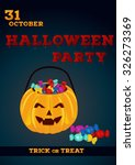 halloween party poster template ... | Shutterstock .eps vector #326273369