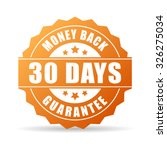 30 days money back guarantee... | Shutterstock .eps vector #326275034