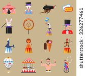 vintage circus symbols flat... | Shutterstock .eps vector #326277461