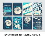 trendy card with patterns  hand ... | Shutterstock .eps vector #326278475