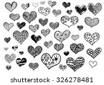 hand drawn doodle hearts on a... | Shutterstock .eps vector #326278481