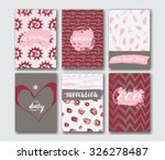 trendy card with patterns  hand ...   Shutterstock .eps vector #326278487