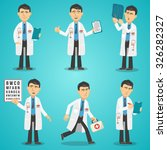 male doctor character set with... | Shutterstock .eps vector #326282327
