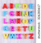 colorful plastic english...   Shutterstock . vector #326283617