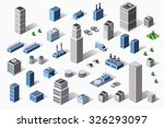 set of industrial and... | Shutterstock . vector #326293097