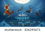 merry christmas and happy new... | Shutterstock .eps vector #326295671