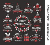 christmas decoration collection ... | Shutterstock .eps vector #326299529