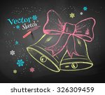 color chalk vector sketch of... | Shutterstock .eps vector #326309459