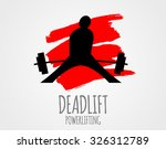 powerlifting logo. deadlift | Shutterstock .eps vector #326312789