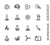simple set of chemical related... | Shutterstock .eps vector #326315615