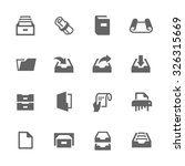 simple set of document related... | Shutterstock .eps vector #326315669