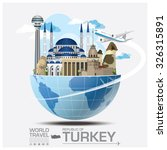 turkey landmark global travel... | Shutterstock .eps vector #326315891