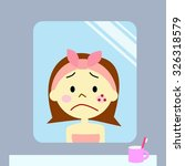 woman sad about the rough skin | Shutterstock . vector #326318579