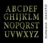 green vintage vector font. | Shutterstock .eps vector #326321915