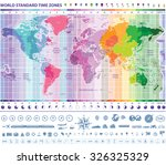 world standard time zones map... | Shutterstock .eps vector #326325329