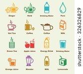 Healthy Drink Elements  Vector...