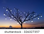 silhouettes of trees with many... | Shutterstock . vector #326327357