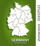 detailed germany map on green... | Shutterstock .eps vector #326329121