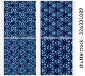 vector set of four monochrome...   Shutterstock .eps vector #326331089
