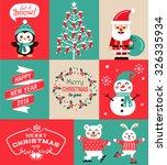 vector set of christmas symbols ... | Shutterstock .eps vector #326335934