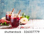fall and winter sangria with... | Shutterstock . vector #326337779