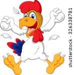 cute rooster cartoon posing | Shutterstock . vector #326338781