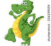 illustration of cute crocodile | Shutterstock .eps vector #326339054