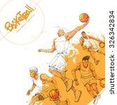 illustration of basketball....   Shutterstock .eps vector #326342834