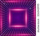 80s retro sci fi background | Shutterstock .eps vector #326343995