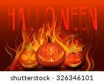 halloween background pumpkins | Shutterstock .eps vector #326346101