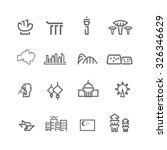 singapore icons set vector | Shutterstock .eps vector #326346629