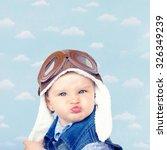 sweet little baby dreaming of... | Shutterstock . vector #326349239