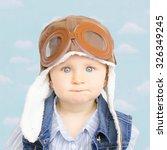 sweet little baby dreaming of... | Shutterstock . vector #326349245