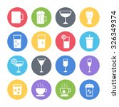 drink icons set | Shutterstock .eps vector #326349374