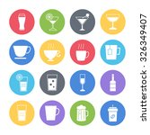drink icons set | Shutterstock .eps vector #326349407