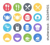 food icons set | Shutterstock .eps vector #326349431