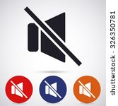 mute sound vector icon 10 eps