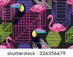 beautiful seamless vector... | Shutterstock .eps vector #326356679