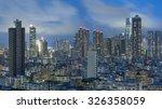sjykine of hong kong city at...   Shutterstock . vector #326358059