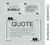 quote bubble. speech bubble.... | Shutterstock .eps vector #326365511