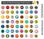 set of technology flat icons | Shutterstock .eps vector #326365664