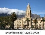 cape town city hall in cape... | Shutterstock . vector #32636935