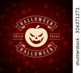 happy halloween typographic... | Shutterstock .eps vector #326371271