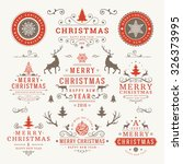 merry christmas and happy new... | Shutterstock .eps vector #326373995